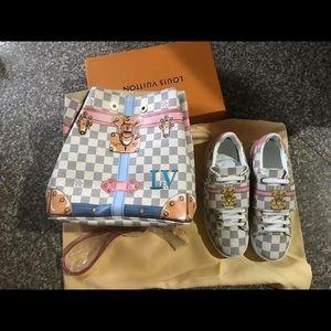 Lv purse and shoe set